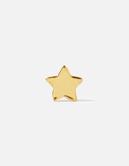 Gold-Plated Single Star Stud, , large