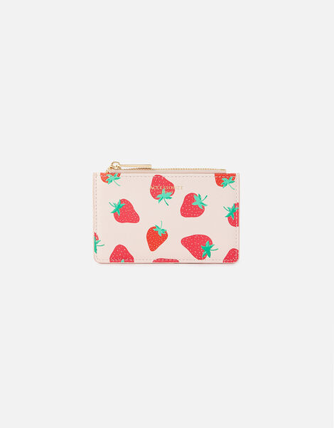 Strawberry Print Cardholder , , large