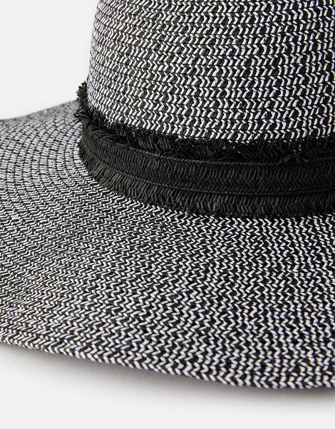 Rhodes Braid Floppy Hat  Black, Black (BLACK/WHITE), large