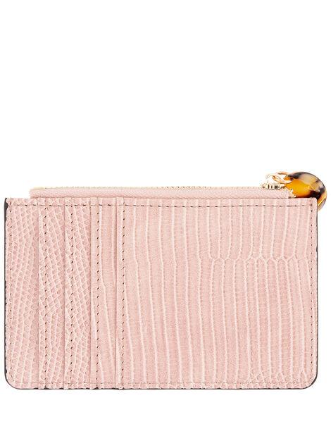 Shoreditch Reptile Card Holder Pink, Pink (PINK), large