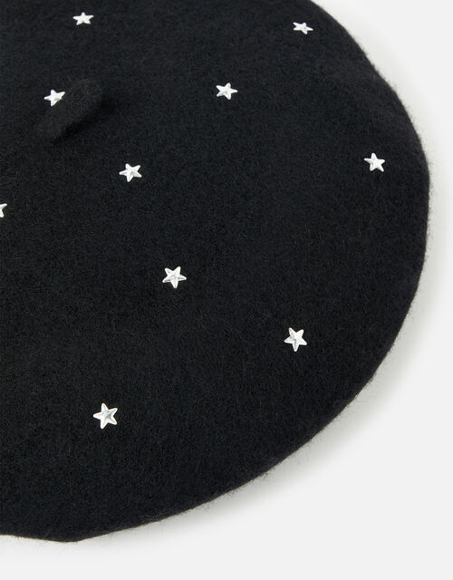 Sparkly Star Wool Beret , , large