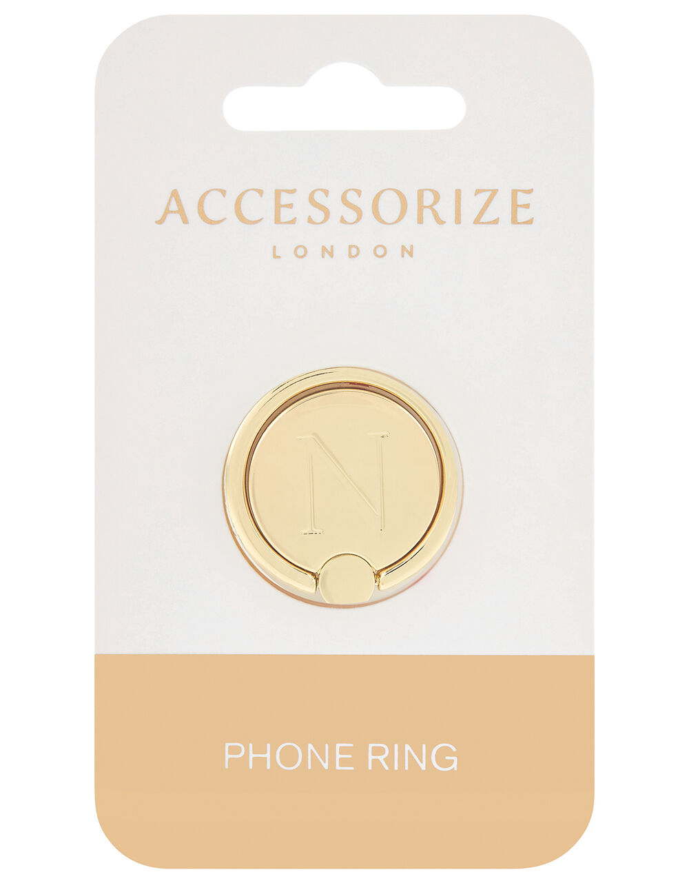 Metallic Initial Phone Ring - N, , large