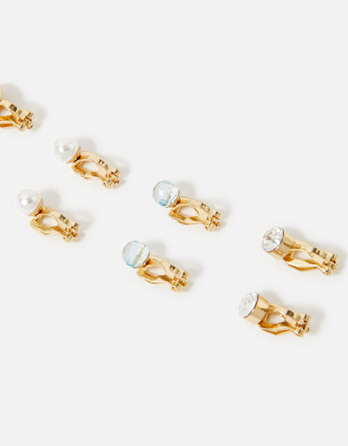 Gem and Jewel Clip-On Earring Multipack, , large