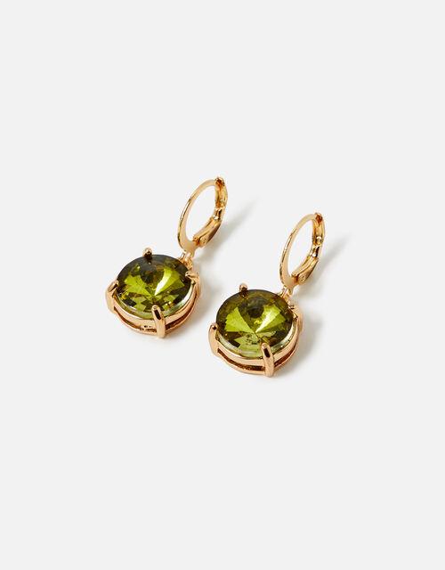 Country Retreat Gem Earrings, Green (GREEN), large