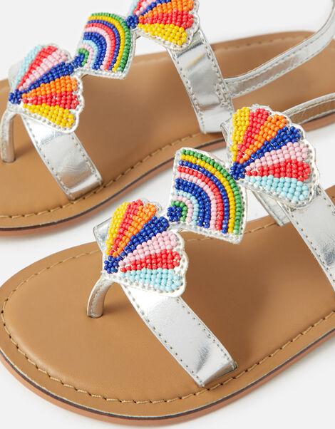 Colourful Bead Metallic Sandals Multi, Multi (BRIGHTS-MULTI), large