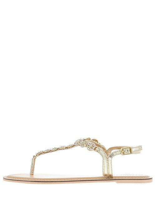 Rome Diamante Embellished Sandals, White (CRYSTAL), large