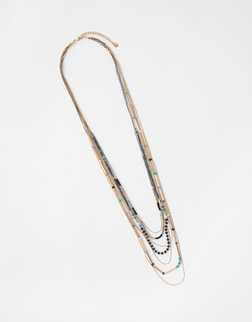 Kerala Beaded Multirow Rope Necklace, , large