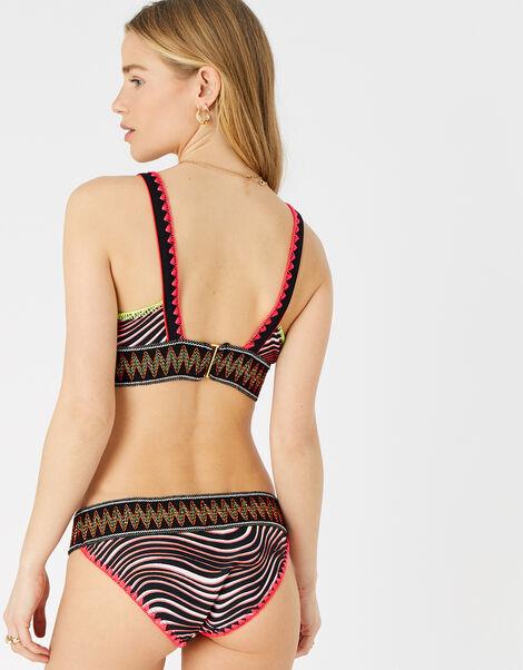Zebra Elastic Trim Bikini Top  Multi, Multi (BRIGHTS-MULTI), large