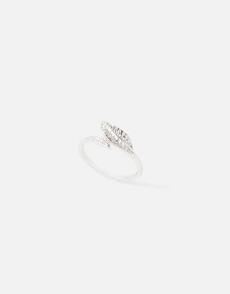 Leaf Wrap Ring Silver, Silver (SILVER), large