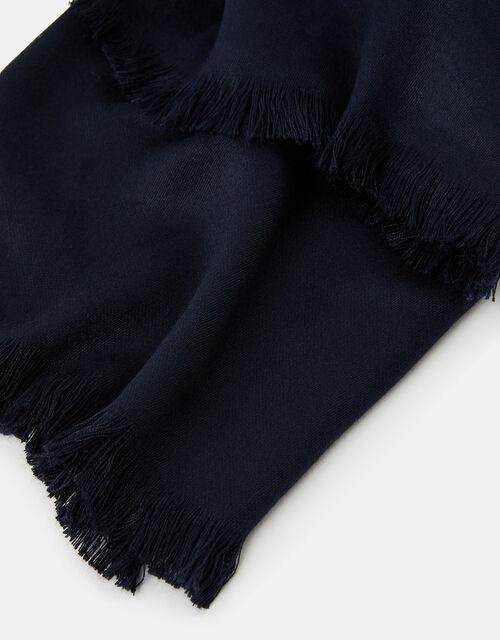 Plain Woven Stole, Blue (NAVY), large