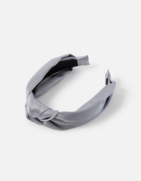 Satin Wide Knot Headband, , large