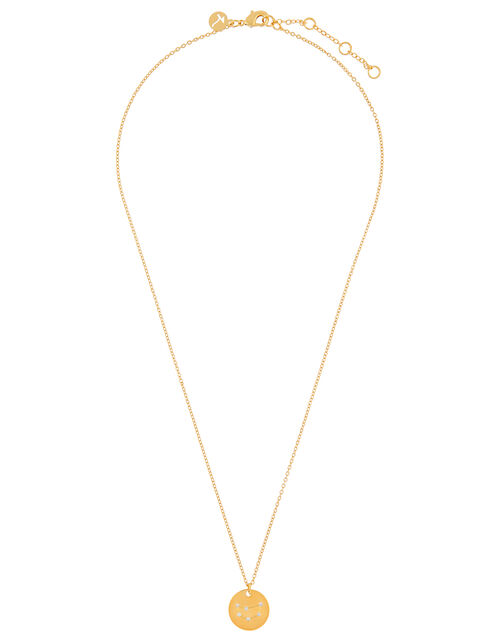 Gold-Plated Constellation Necklace - Capricorn, , large