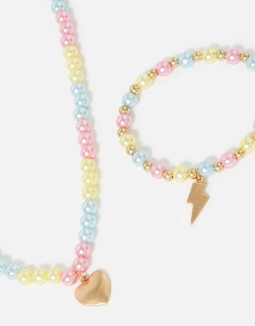 Rainbow Beaded Jewellery Set , , large