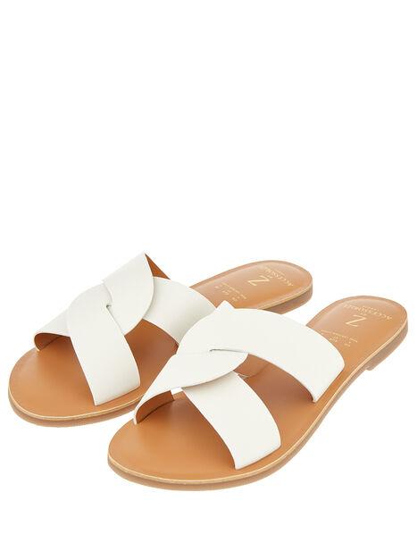 Seville Twist Sliders White, White (WHITE), large