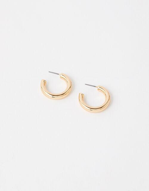Small Chunky Hoop Earrings, , large