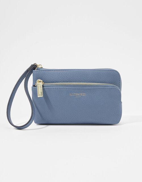 Wristlet Pouch Bag, Blue (BLUE), large