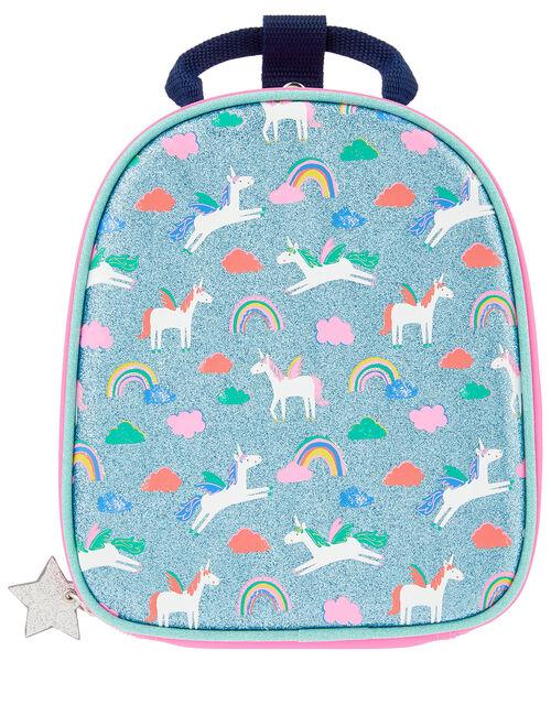Glittery Unicorn Lunch Bag, , large