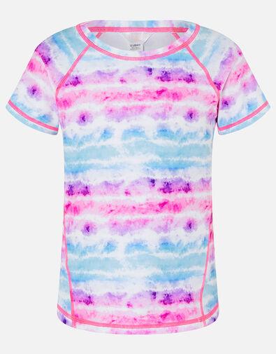 Girls Tie Dye Active T-Shirt Multi, Multi (BRIGHTS-MULTI), large
