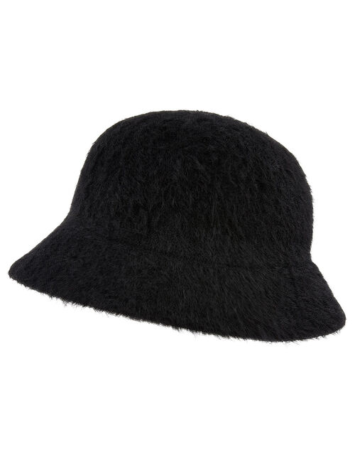 Fluffy Bucket Hat, Black (BLACK), large