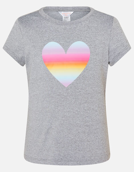 Heart T-Shirt Grey, Grey (GREY), large