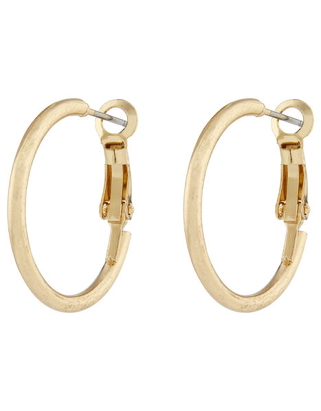 Small Simple Hoop Earrings Gold, Gold (GOLD), large