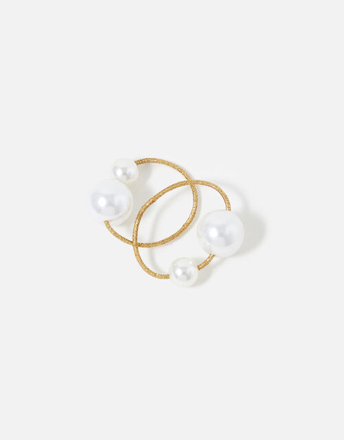 Pearl Detail Hairband Twin Pack , , large