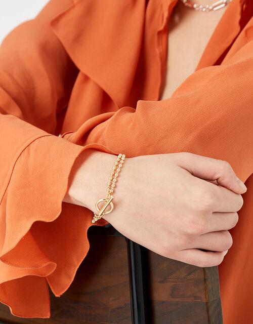 Ball Chain T-Bar Bracelet, , large