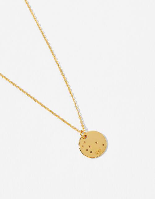 Gold Vermeil Constellation Necklace – Leo, , large