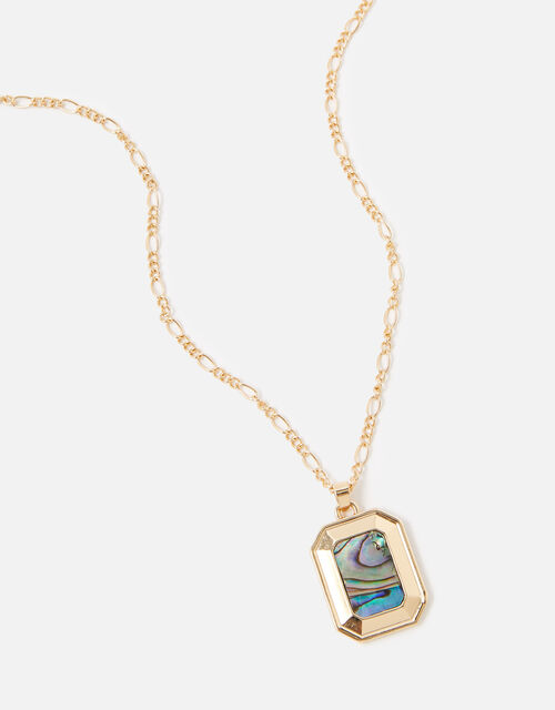 Midnight Sky Rectangle Coin Pendant Necklace, , large