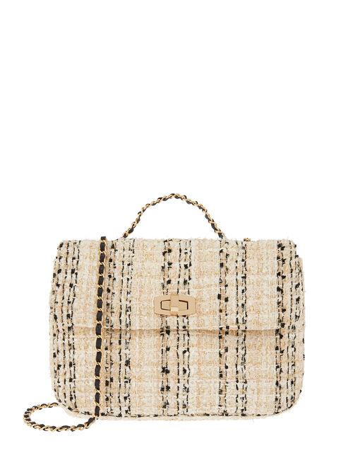 Ayda Boucle Cross-Body Bag, , large