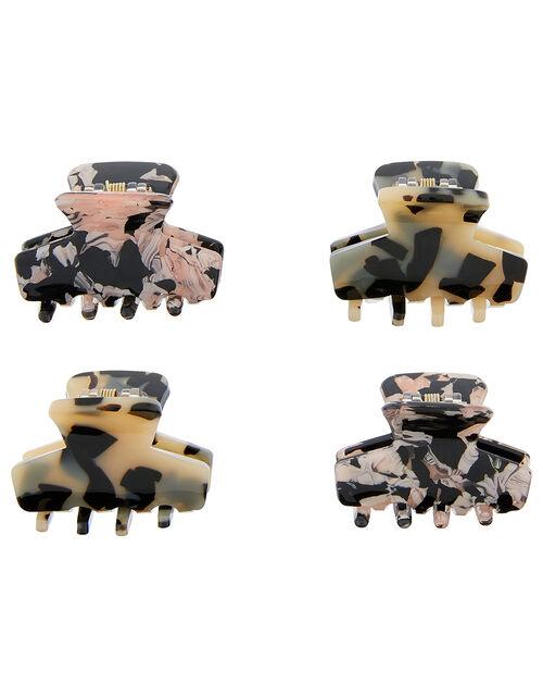 Tortoiseshell Bulldog Hair Clip Multipack, , large