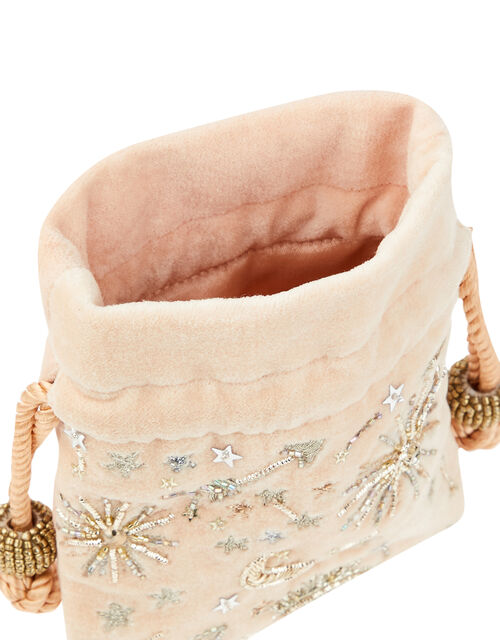 Ophelia Starry Embellished Jewellery Pouch, , large