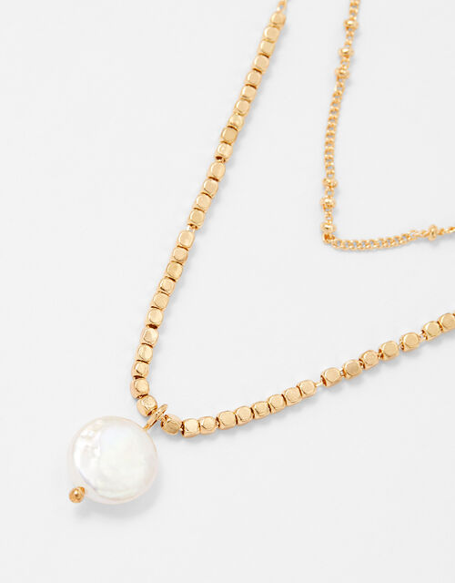 Freshwater Pearl Multirow Necklace, , large