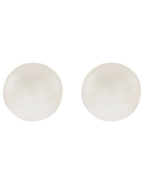 Sterling Silver Freshwater Pearl Stud Earrings, , large