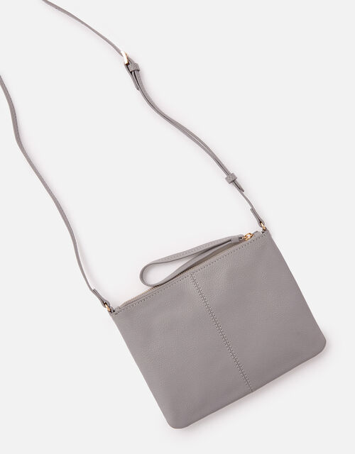Sophie Leather Cross Body, Grey (GREY), large