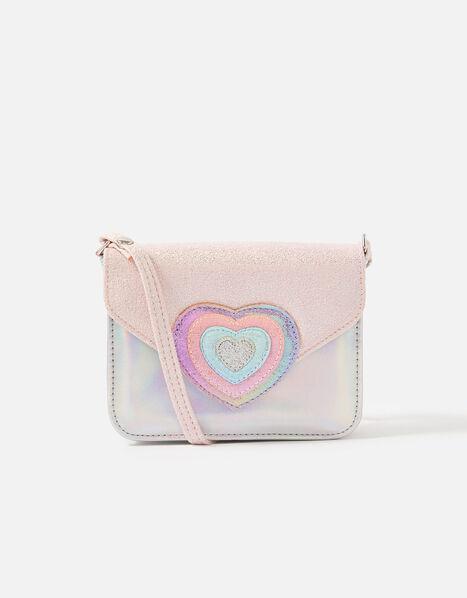 Rainbow Heart Cross-Body Bag , , large