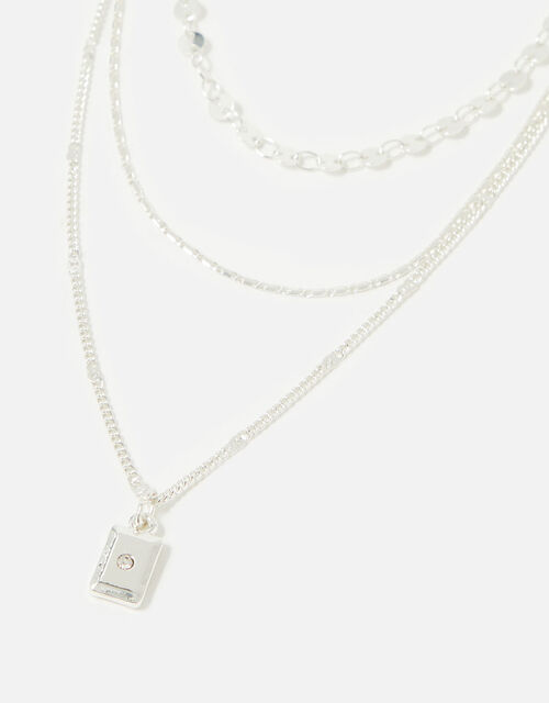 Midnight Sky Square Charm Necklace , , large