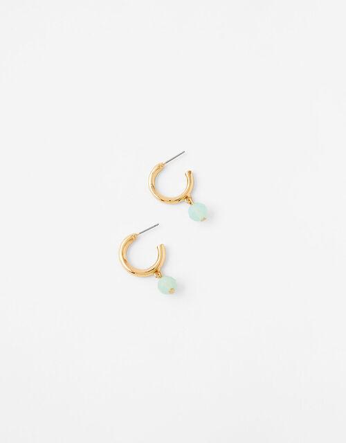 Ceramic Charm Hoop Earrings, , large
