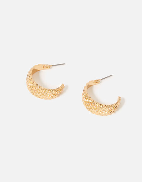 Reconnected Quilted Hoop Earrings, , large