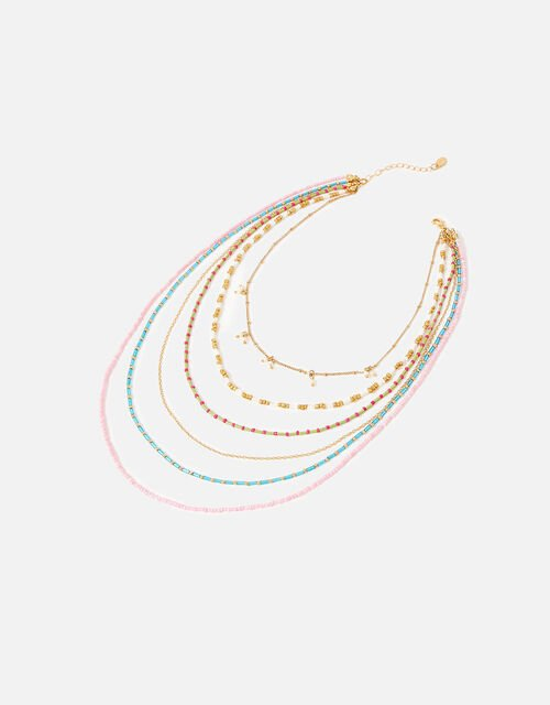 Feel Good Seedbead Layered Necklace , , large