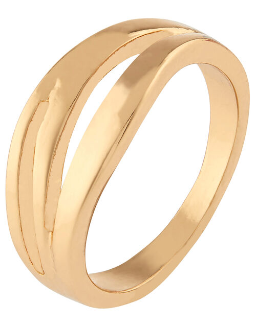 Chunky Wave Ring, Gold (GOLD), large