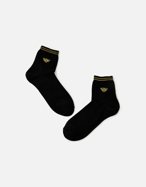 Embroidered Bee Happy Socks , , large