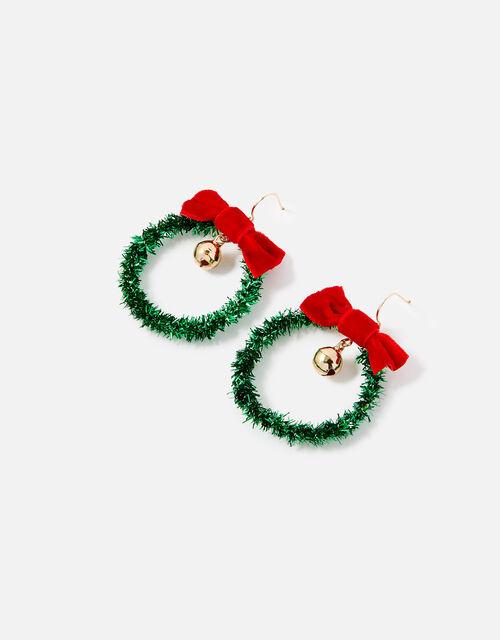 Christmas Wreath Earrings, , large