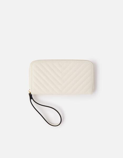 Quilted Phone Purse  Cream, Cream (CREAM), large