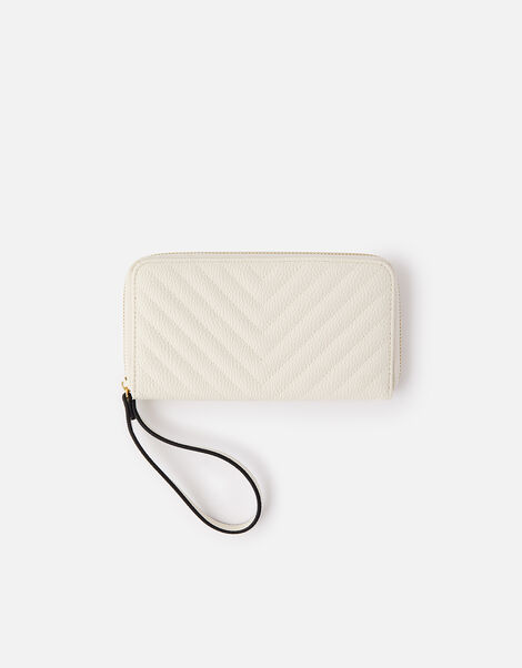 Quilted Phone Purse  Cream, Cream (CREAM), large