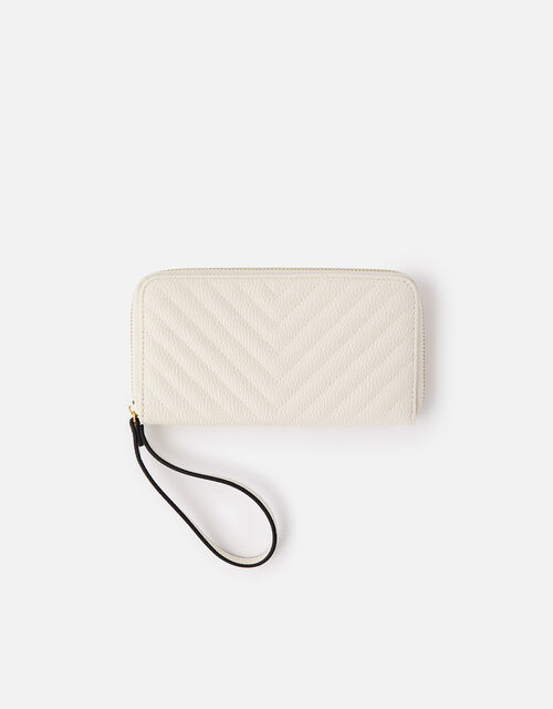 Quilted Phone Purse , Cream (CREAM), large