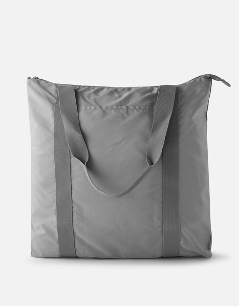 Packable Shopper Bag Grey, Grey (GREY), large