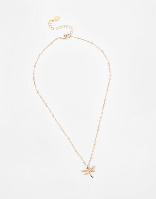 Sparkle Dragonfly Pendant Necklace, , large