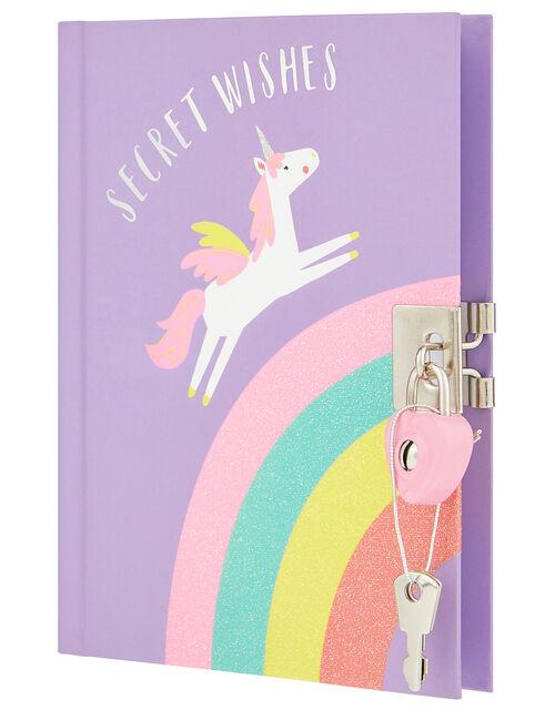 Unicorn Rainbow Lockable Journal, , large