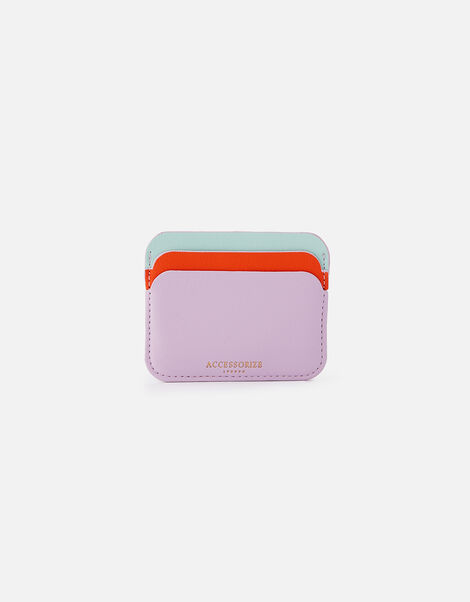 Curve Colour-Block Card Holder  Purple, Purple (LILAC), large